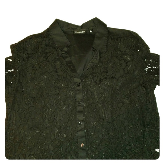 New York & Company Tops - Black button up shirt